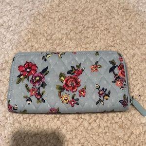 Vera Bradley wallet in Water Bouquet